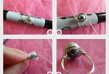 Drátěné prsteny......