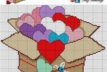 Hearts Croos Stitch