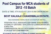 MERI Pool Campus For MCA Student OF 2012 - 15 Batch