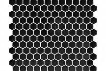 Hexagon / Hexagon inspiration. Płytki łazienkowe Heksagon. Hexagon inspiration. Płytki heksagonalne. Czarne heksagony. Hexagon shape. Kształt heksagonalny. Hexagon geometry. Sześciokąty. Hexagon design.