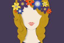 !zw: kwiaty we włosach