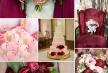 Pink and burgundy wedding