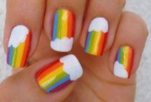 Radiant Rainbow Nail Art Designs
