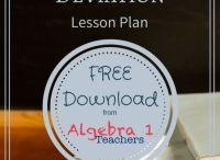 Statistics Lesson Plans for Algebra 1 / 0 / by Jeanette Stein