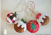 Filc karácsonyfadíszek