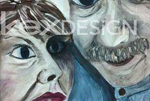 kexART - Gesichter in Acryl / Gesichter inspirieren, sie zeigen die Spuren eines Lebens.