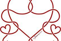 Patterns: hearts - Minták: szívek