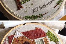 Hand Stitching, Embroidery, Stitcheries