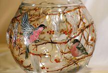 Cam boyama-glass painting