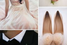 blush and black wedding