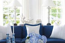 Blue spring living room