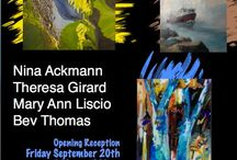 Juried Member Show / 4 person Juried Member Show: Nina Ackmann, Theresa Girard, Mary Ann Liscio, & Bev Thomas