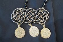 Lina Liri's Handmade Jewerly Collection Rosary Necklace Combine Bead & Coin. / Lina Liri's Handmade Jewerly Collection Long Rosary Necklace Combined Beads & Coins.