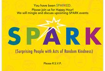 SPARK / SPARK  Groups (Surprising People with Acts of Random Kindness) seek to provide encouragement to individuals in their local communities through random gestures of care and kindness.   http://www.enlightenfoundation.org/get-involved/spark/ / by The Enlighten Foundation
