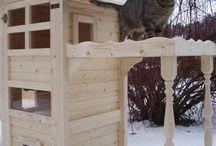 Kočičí škrabadla+domečky