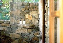 Outdoor shower bathroom