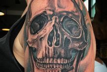 Skull Tattoos / Most tattoos here are *NOT* by us, but are done by other awesome tattooers!