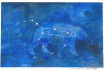 My Constellation Paintings / These paintings are my interpretation of the constellations of the night sky.