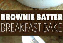 Brownie breakfast bake