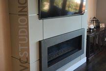 Concrete Fireplace / Concrete fireplace surrounds, hearths, mantles.