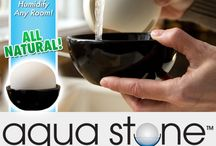 Aqua Stone / Aqua Stone is the unique new stone sphere that radiates water to instantly become a room humidifier! Simply fill with water, and let Aqua Stone go to work moisturizing the air around you, the natural way! This decorative humidifier is completely silent and, best of all, does not need batteries or electricity. The secret is Aqua Stone's porous stone sphere that absorbs water through capillary action, and then releases it by natural evaporation, humidifying an entire room!