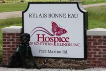 Magnum, The Facility Dog / Meet Magnum, Facility Dog, at Relais Bonne Eau, Hospice Home. He volunteers daily with Miss Carol, his partner, to bring love, comfort and joy to everyone he meets.