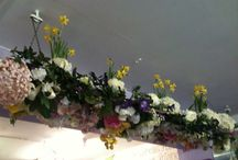 Flower decorating by petite fleur floristry Benfleet / Making displays with any props from home garden or markets great fun