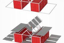 Konténer épületek ...  Összecsukható házak ...   Container buildings