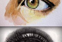 peinture oeil