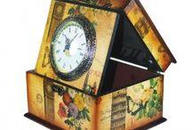 ceas de masa din lem