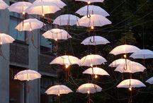 Beleuchtete Schirme