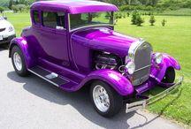 Purple Cars & Motorcycle & Airplanes & Bikes & Caravans