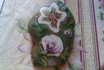 Stone painting - festett kavicsaim / Festett kavicsok - Stone painting
