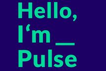 »Hello, I'm_Pulse« – Exhibition App and Concept / This app/exhibition is part of a third semester project at the Hannover University of Applied Sciences and Arts.   The name I'm_Pulse stems from the technical foundation of the project, all the while still influencing the design of the exhibition as a whole. The App plays the role of an artificial intelligence by contacting the user. Its name is Pulse..