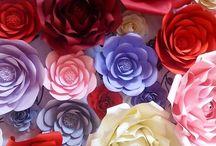 Paper flowers/ Flori din hartie / Flori handmade din hartie cartonata