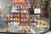 Iowa Book Source / Our display window we have at a local mall for independent and small publishing house authors to display their work and an online store where the customer can buy the book as well.
