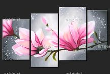 Flores en Óleo
