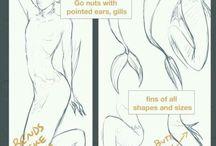 How to draw mermaids