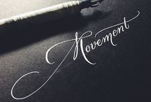 Calligraphy love / Calligrpahy, modern calligraphy