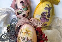 IDEAS FOR EASTER / Decoupage ideas for Easter made with Calambour's papers