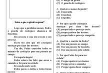Português textos com interpretação