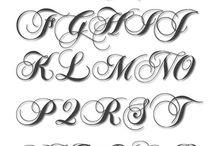 Буквы шрифты