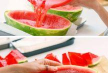 Sommer, frukt og mat