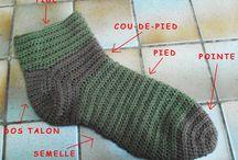Chaussette crochet