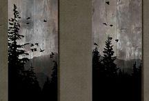 tavole in legno decorate