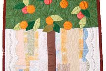 my trees / appliqued, embroidered, quilted - see the many faces of textile trees created by me / by Bozena Wojtaszek