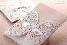 Embossed Wedding cards