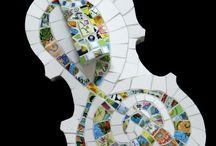 Mosaic Violins / by Mosaic Tile Mania