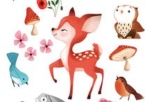 Illustrations animaux divers