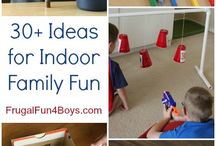 Fun Indoor Activities for Kids / It's too cold to go outside. So, create a fun adventure zone inside!
